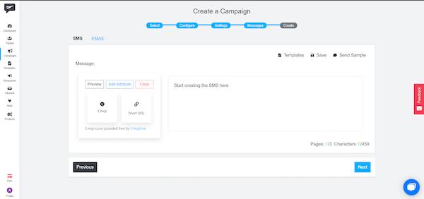 ShoutOUT CRM creating a campaign