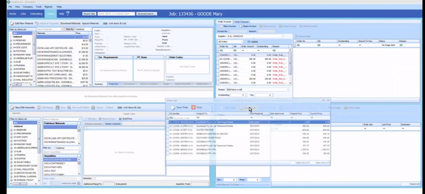 BuilderSYS purchase order management