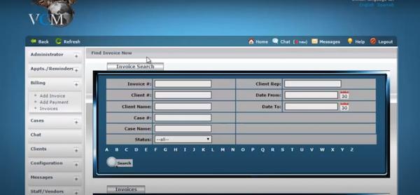 VCM invoice management