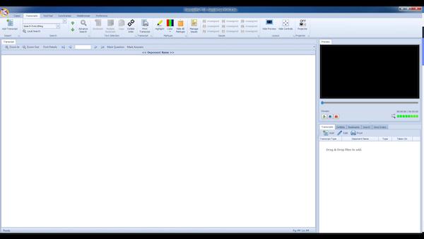 TranscriptPro workspace
