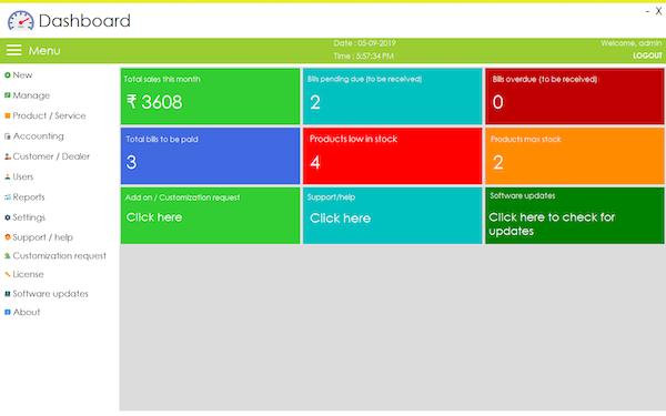 So Baims dashboard screenshot