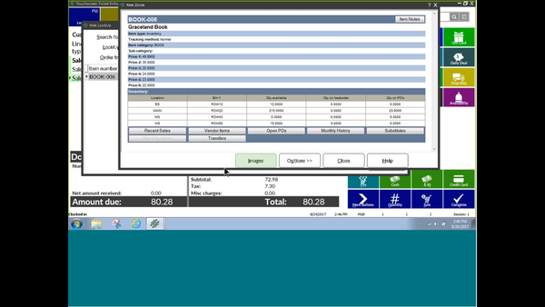 NCR Counterpoint inventory management