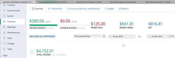 TidyHQ finance management