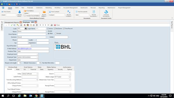 BHL Insight employee management