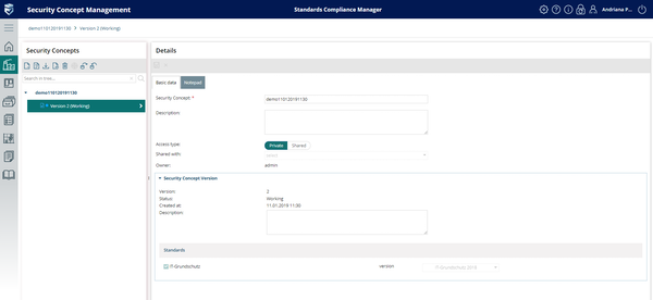 Security concept manager