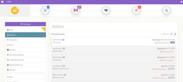 Pomelo Health mailbox