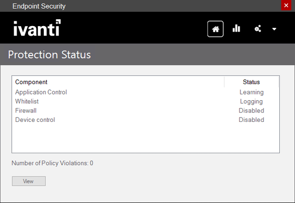 Ivanti Endpoint Security for Endpoint Manager protection status screenshot
