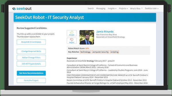 SeekOut candidate search