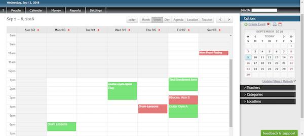 Studio Helper calendar