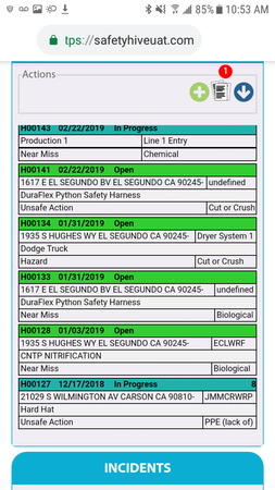 Incident tracker on mobile