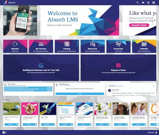Absorb LMS showcase dashboard screenshot