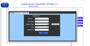 Shubhra Billing Management admin page