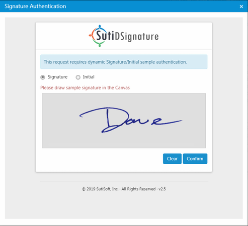 SutiExpense signature approval screenshot