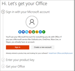 Office 365 - Signing in