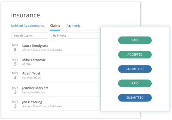 SimplePractice claims management