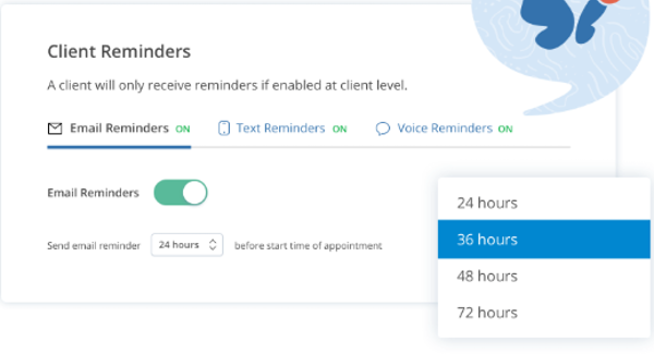 SimplePractice client reminders