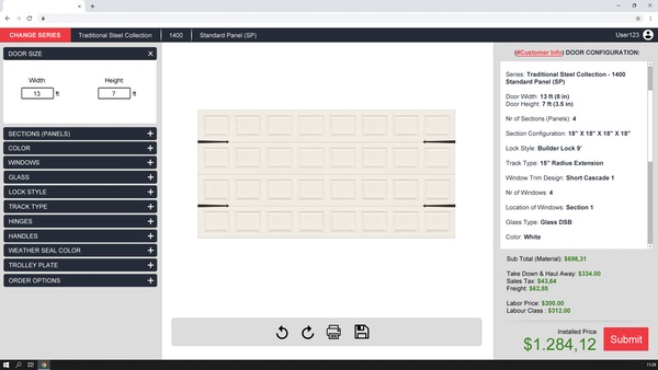 Simplio3D door configuration