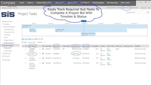 SIS Compass task management