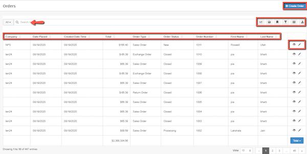 Slatwall Commerce order list