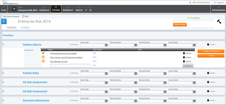 Configurable ERM Program Management