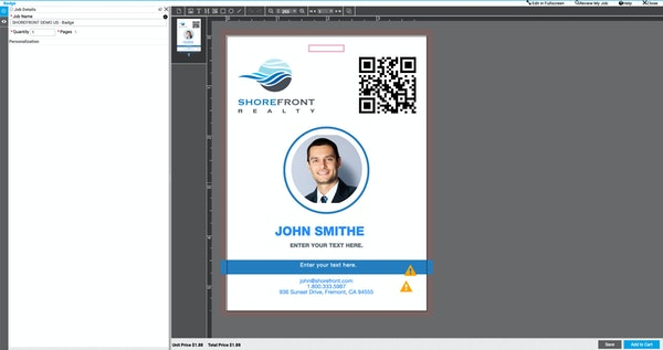 Smart Canvas Badge Application