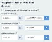 Smarter Select program status screenshot