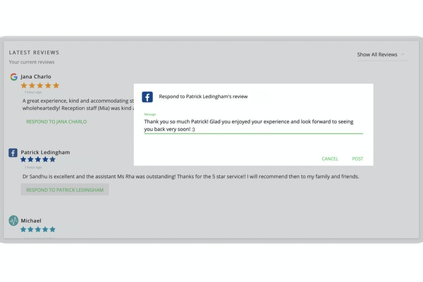 Respond to reviews