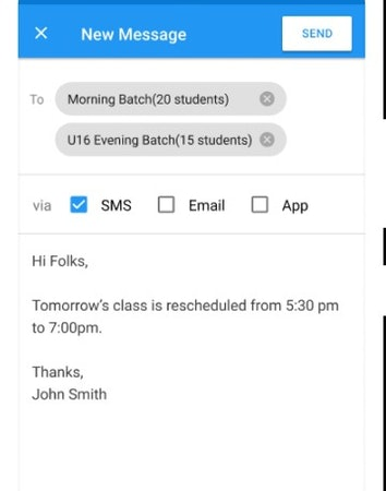 AcademyPRO SMS messaging