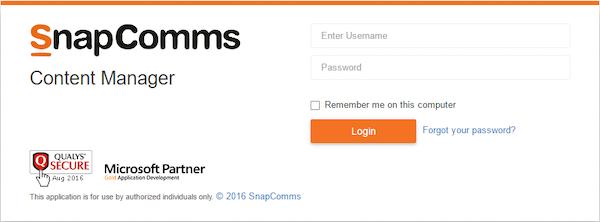 SnapComms admin portal
