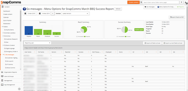 SnapComms message delivery portal