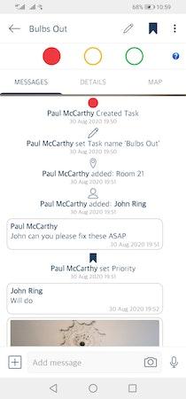 Snapfix activity tracking