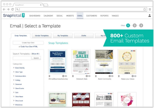 SnapRetail email snap templates