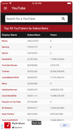Social Blade top YouTube channels