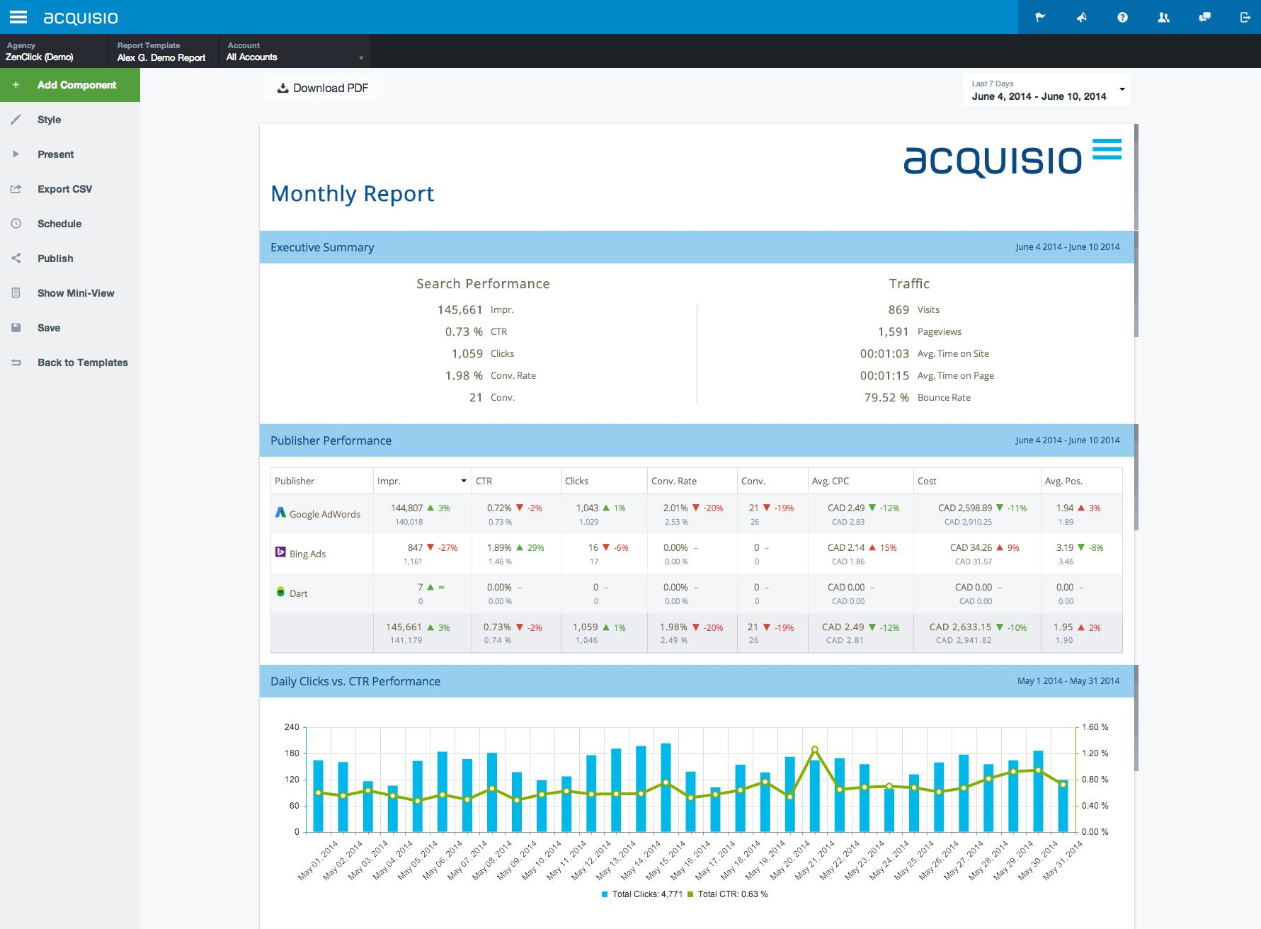 Social search and display platform