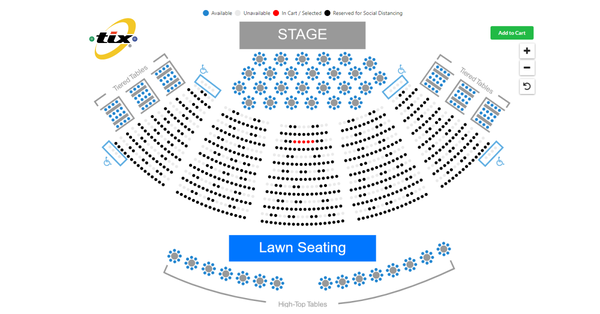 Tix online ticket sales seat selection