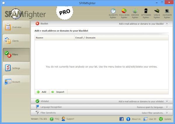 SPAMfighter email address list