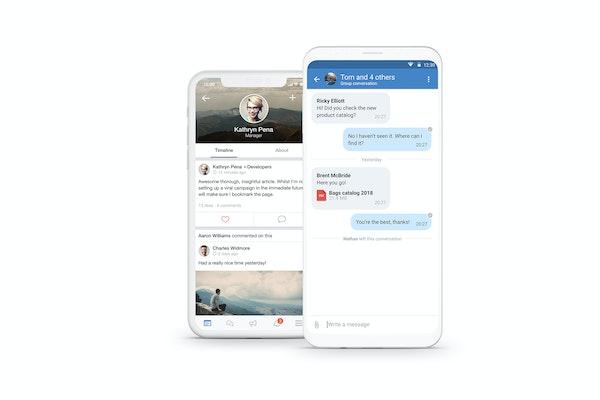 Speakap group conversation screenshot