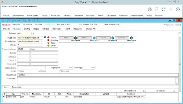 SpecPDM project management