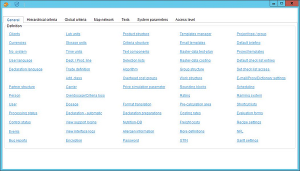 SpecPDM feature menu options