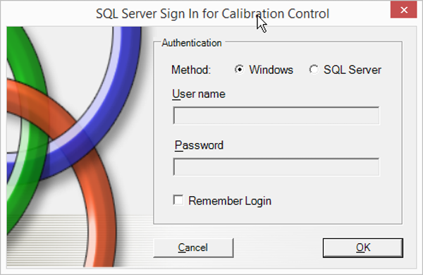 Calibration Control SQL server installation
