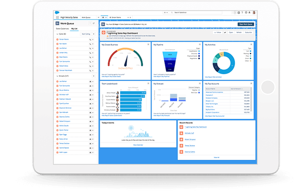 Salesforce sales rep dashboard