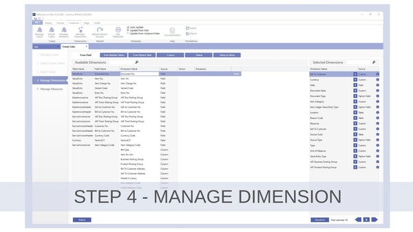 Step 4 Manage Dimension Example