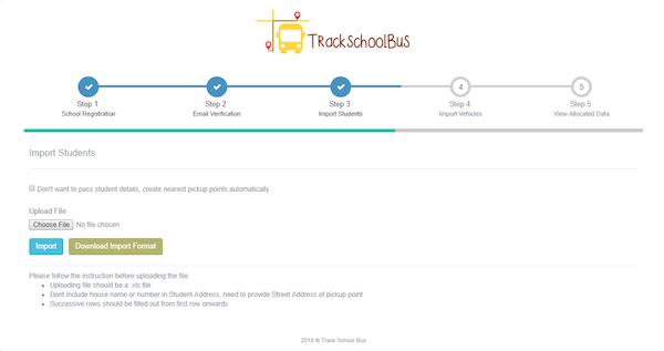 TrackSchoolBus importing student data