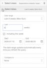Supermeterics select date range