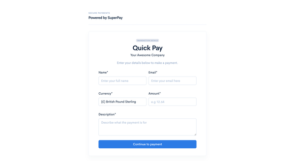 SuperPay Quick Pay