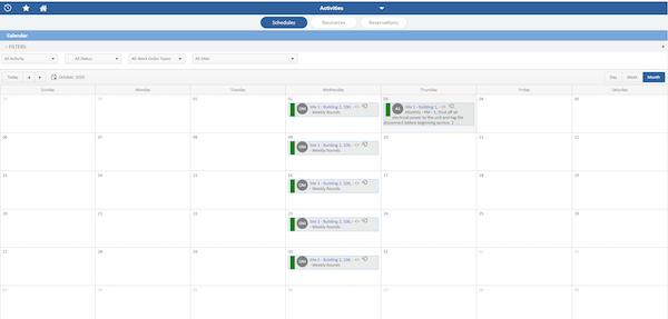 NETfacilities activity scheduling