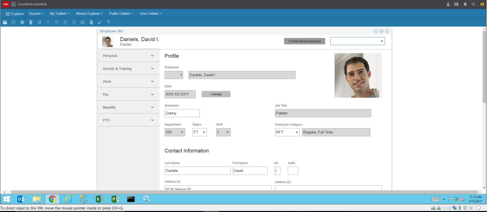 CloudSuite Industrial (SyteLine) - CloudSuite Industrial (Syteline) employee profile screenshot