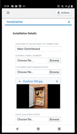 Emvisage installation details