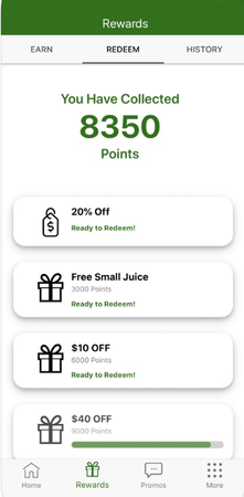 TapMango reward points screenshot