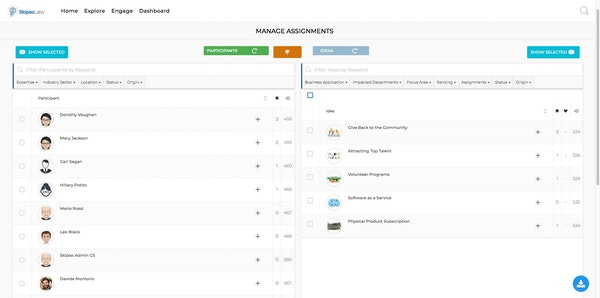 SkipsoLabs assignment management screenshot